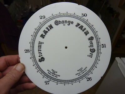 "Good Old Aneroid Barometer 8"" Milk Glass Dial (K2)"