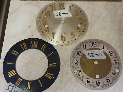 3 Useful Old Clock Dials- 1 Engraved Dial-2 With Applied Numerals