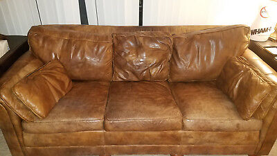 Stickley Craftmans Leather Couch Sofa