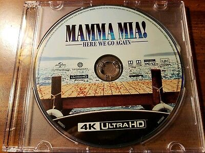 New 2018 Cher Mamma Mia! Here We Go Again musical movie 4K UHD Blu Ray Disc Only