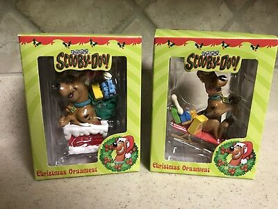 Two 1998 Scooby-Doo Cartoon Network Christmas Ornaments