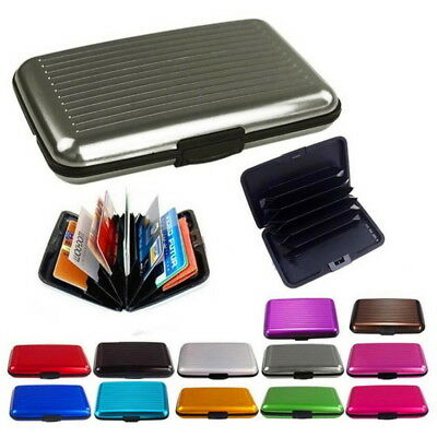 Aluminum ID Credit Card Holder IMS RFID Blocking Thin Protector Wallet Case