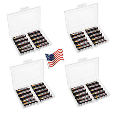 Battery Storage Containers Organizers Case for 10 AA AAA Batteries Holder 4 Pack