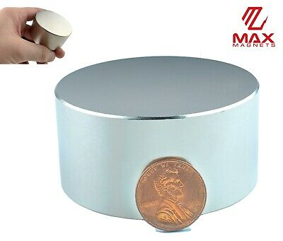 "Largest Size 60mm (2.36"") Neodymium Rare Earth Magnet Big Super Strong Huge Size"