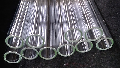 "12mm Pyrex Glass Tubes - 4"" to 12"" inch lengths - 10pcs. - Smooth Ends"