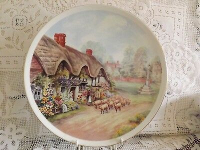 Vintage Viscount China Cottages Of Rural England Bishops Green Display Plate