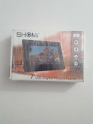 Shomi 7 Led Digital Picture Frame Usb Sdsdhc Mmc Open Box Mint