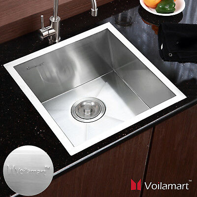 Stainless Steel Kitchen Sinks Handmade Square Single Bowl Catering 440X440mm