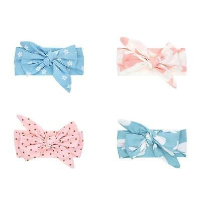 8 Kinds Cute Baby Kids Girls Elastic Stretchable Floral Hair Band Knot Headband