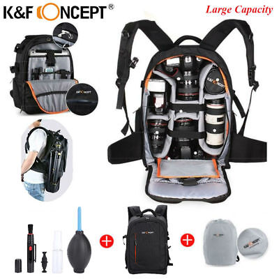 dbad520cba K F Concept DSLR Camera Backpack Bag Case Waterproof Large Capacity w Rain  Cover
