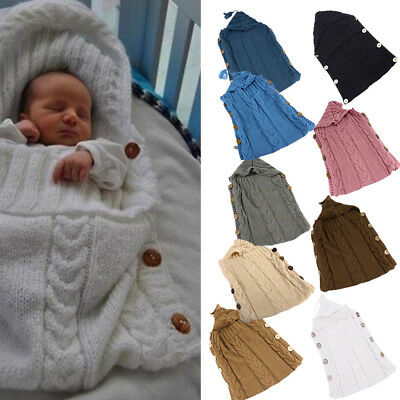 Bedding Knited Blanket Infant Sleeping Bag Newborn Baby Swaddle Stroller Wrap