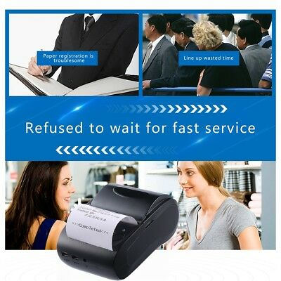 Professional 58mm Bluetooth Wireless Receipt POS Printer For Android For Windows