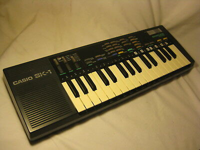 vintage Casio SK-1 keyboard synthesizer retro electronic musical piano *