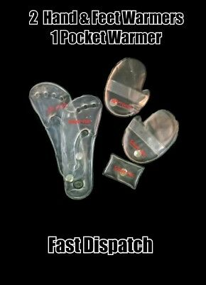 + Pack of 5 Reusable Instant Click Heat Cooling Pads Feet Hand Warmers Set