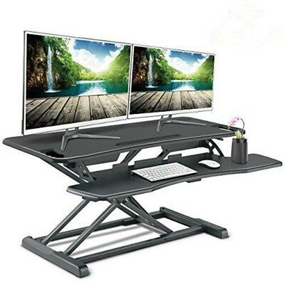 Height Adjustable Standing Desk Tabletop Monitor Laptop Riser With Keyboard Tray