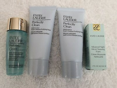 Estee Lauder Perfectly Clean 2 x Cleanser 30ml, Toner 30ml & Advanced Night 5ml