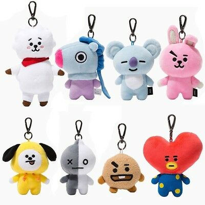 Kpop BTS BT21 Plush Keychain Doll Keyring CHIMMY COOKY RJ Stuffed Cotton Toys