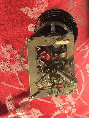 American Single Train Clock Movement Probably Dial Clock