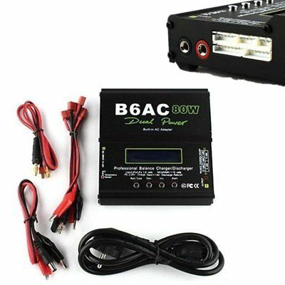 B6AC LiPo Akku 80W Dual Power Balancer Charger mit Ladegerät Built-in AC Adapter