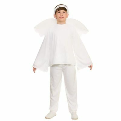 Child Christmas Angel Costume Boys Girls Nativity Fancy Dress Outfit