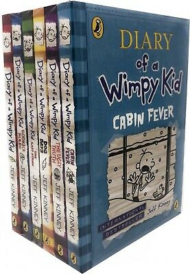 Jeff Kinney Diary of a Wimpy Kid Collection 6 Books Set Rodrick Rules Last Straw
