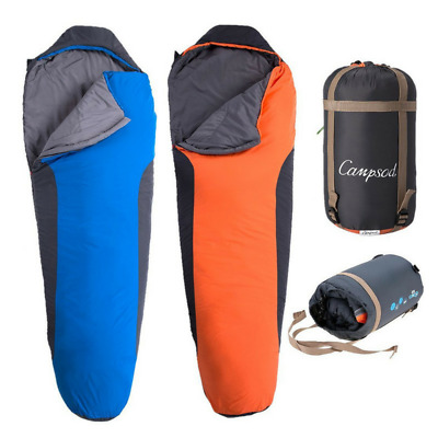 Mummy Style Sleeping Bag 3 - 4 Season Water-Resistant Lightweight Durable Single