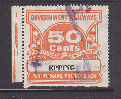 """RAILWAY STAMPS:   50c  NSW PARCEL STAMP  """" EPPING """""""
