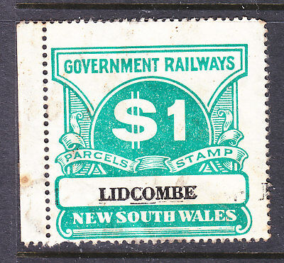 """Railway Stamps:   $1.00  Nsw Parcel Stamp  """" Lidcombe """""""