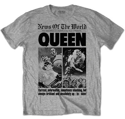 Queen 'News Of The World 40th Anniversary Front Page' T-Shirt - NEW & OFFICIAL!