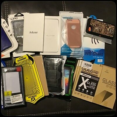 Lot of 49 New Cell Phone Cases & Accessories iPhone Galaxy & More