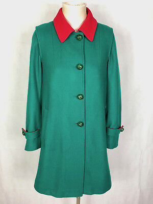 CULT VINTAGE '70 Cappotto Donna Lana Trapezio Wool Woman Coat Sz.S - 42