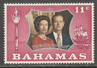Bahamas #344 (CD324) VF MINT LH - 1972 11c Silver Wedding Issue