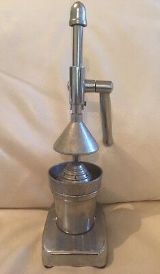 Vintage Retro Lever Arm Chrome Citrus Presser Juicer Squeezer