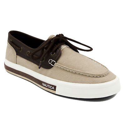 Nautica Mens Spinnaker Boat Shoes - Smooth Tan & Brown