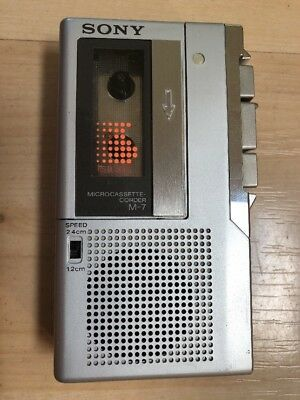 Good Sony M-7 Micro Cassette Corder Audio Recorder