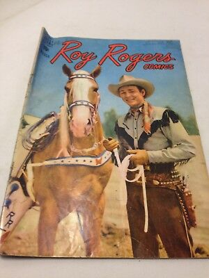 1949 Issue # 15 Roy Rogers  Western Dell Vintage Comic Book 10 Cent