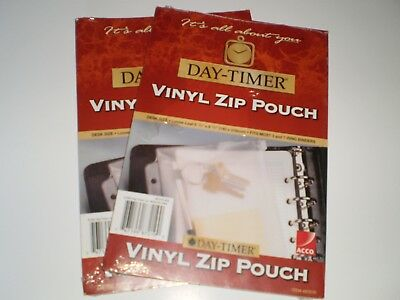 Day-Timer Vinyl Zip Pouch (2) Desk Size #87219