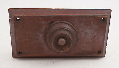 Antique Solid Wood Front Door Bell Button (D3R) w/Mechanical Bell Vintage