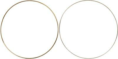 Circular Wire Metal Rings Gold Assorted Size Christmas Hanging Decoration Crafts