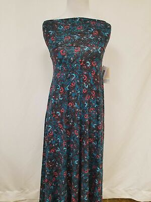a0e14a2e90 New LuLaRoe Maxi Skirt 2XS XXS blue red black floral paisley beautiful soft