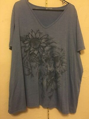 30677b865aa Old Navy 4x Graphic Flowers Tee Womens Plus Size 26 28