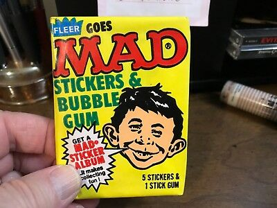 RARE 1983 Fleer Mad Stickers Card Pack Sealed