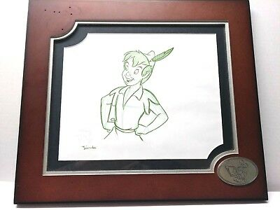 Disney Animation Original Peter Pan Signed Framed 11x13 Sketch