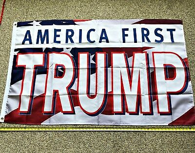 Donald Trump Flag FREE SHIPPING Rare Black and White 3x5/' Digital Print Banner