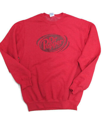 Dr. Pepper Sweatshirt Soft Heathered Red Burgundy Logo Large- BRAND NEW