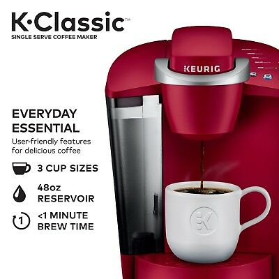 K Classic K50 Single Serve K Cup Pod Coffee Maker Rhubarb Idle for Two Hours New