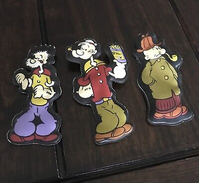 Popeye vintage puffy magnets 1974 lot of 3