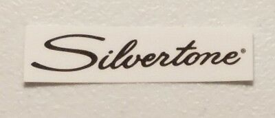 Silvertone Black Waterslide Headstock Decal