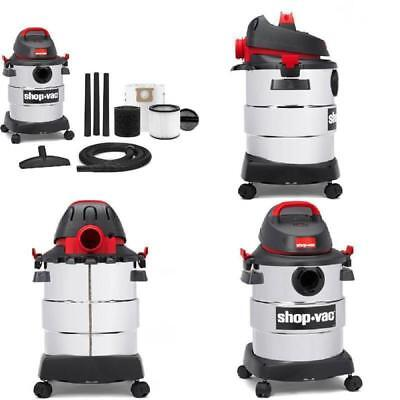 6 Gallon 4.5 Peak HP Stainless Steel Wet Dry Shop Vac Household Supplies Vacuum