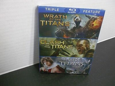 WRATH OF THE TITANS  & CLASH OF THE TITANS 1981 & 2010  TRIPLE FEATURE Blu-ray